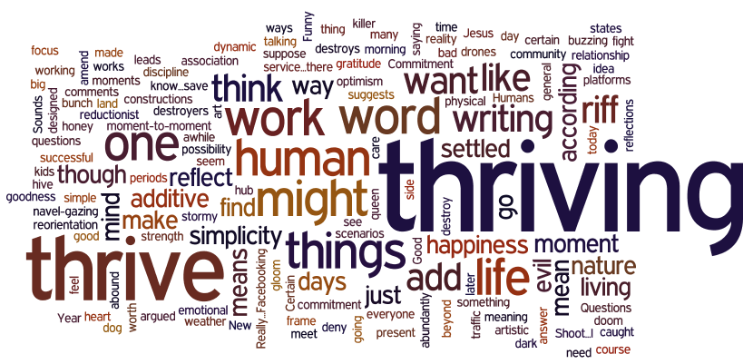 Thriving: A Good Hub of a Word – JEFF BERRYMAN